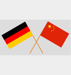 Germany and republic of china flags officia vector
