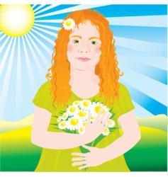 ginger girl vector image