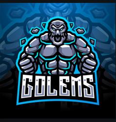 golems esport mascot logo vector image