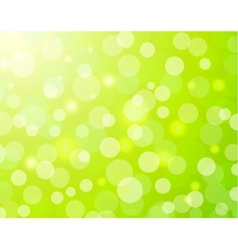 Green bokeh light background vector image