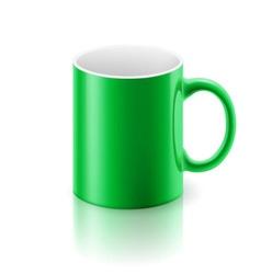 Green mug vector