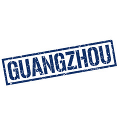 Guangzhou blue square stamp vector