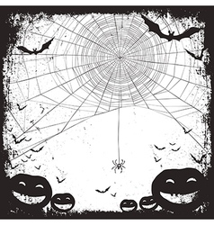 halloween background bw vector image