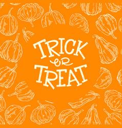 Halloween pumpkin frame vector