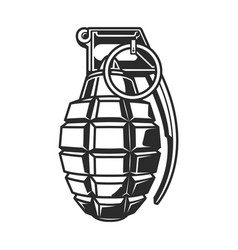 Hand grenade in black white colour vector