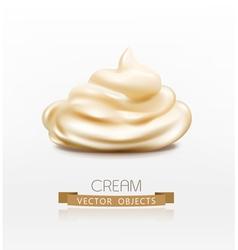 Handful cream mayonnaise swirl vector