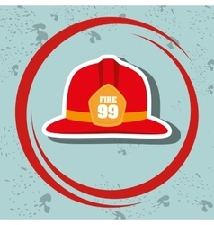 helmet fire hat icon vector image