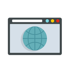 Hosting domain icon flat style vector