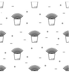 house plant pattern seamless vector image