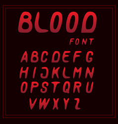 letters a-z red blood font vector image