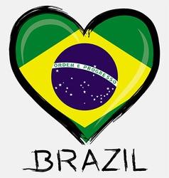 Love Brazil flag vector