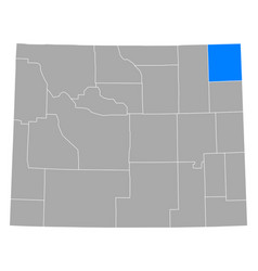 Map crook in wyoming vector