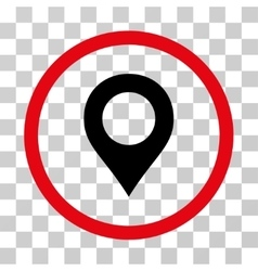 Map marker rounded icon vector