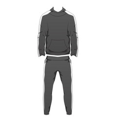 Mens sport outfit suit template running gym vector