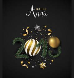 new year 2019 holiday decoration french card vector image