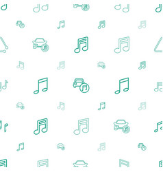 notes icons pattern seamless white background vector image