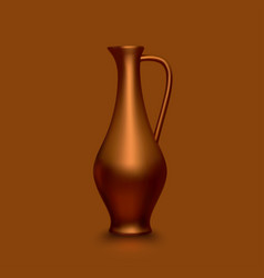 Old copper jug vector