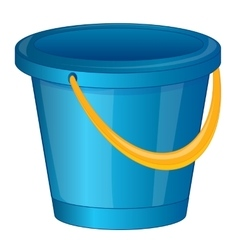 Pail from plastic arts vector