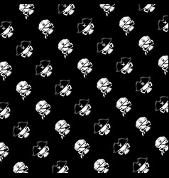 Pirate skull pattern on black background vector