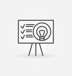 Presentation outline icon start-up vector