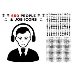 radio operator icon with bonus vector image