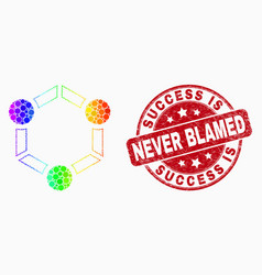 rainbow colored pixelated cooperation icon vector image