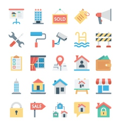 Real Estate Colored Icons 3 vector