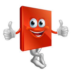 red book character vector image