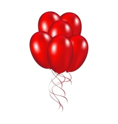 Red festive balloons vector image