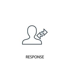 Response concept line icon simple element vector