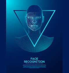 robot blue eyes android with detailed iris and vector image