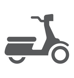 scooter glyph icon vehicle and transport vector image