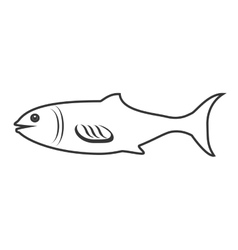 Seafood animal isolated flat icon vector