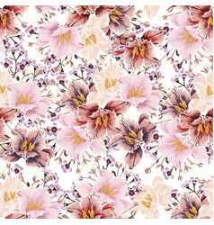 seamless pattern with many kind herbs vector image