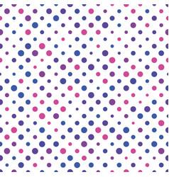 Seamless polka dot pattern pink violet and blue vector