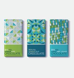 Set Of Chocolate Bar Package Designs With vector