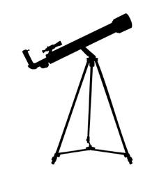 Silhouette telescope vector