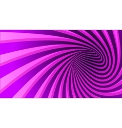 Striped spiral abstract tunnel vector