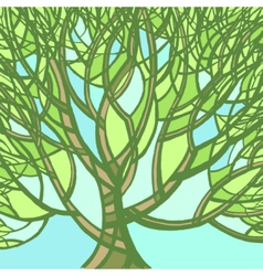 Stylized abstract spring tree vector image