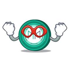Super hero maker coin character cartoon vector