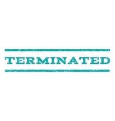 Terminated Watermark Stamp vector image