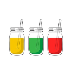 tree smoothie jars vector image