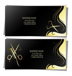 Unique design business card for beauty salon vector