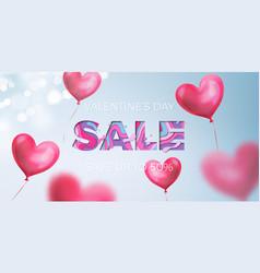 valentines day sale design valentine red heart vector image