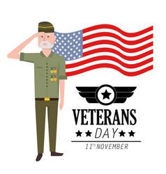 Veterans day to celebrate policeman patriotic vector