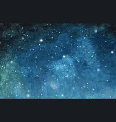 Watercolor cosmic texture with stars vector