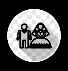 Wedding Bride and groom icon vector