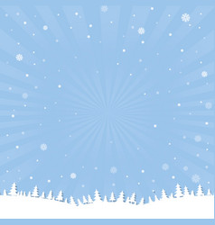 Winter cartoon poster vector