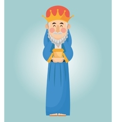 Wise man cartoon with gift design vector
