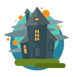 Scary dark castle vector